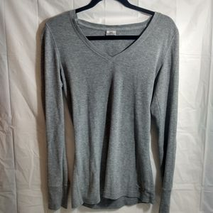 Pink Victoria's secret gray thermal t-shirt